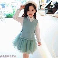 冬季女童套装秋装2018新款韩版儿童洋气三件套潮衣女孩时髦半身裙秋季秋冬新款