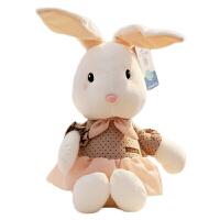 毛绒公仔礼物送女生 绒毛玩具兔子 萌背带裤兔子兔兔毛绒玩具小兔子公仔小白兔布娃娃中号生日礼物