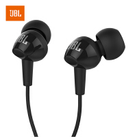 【当当自营】JBL C100SI 黑色 超轻盈入耳式耳机 耳麦 苹果 安卓通用耳机 游戏耳机