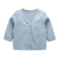 婴儿毛衣针织衫男长袖开衫宝宝外套春装线衫初生新生儿上衣女