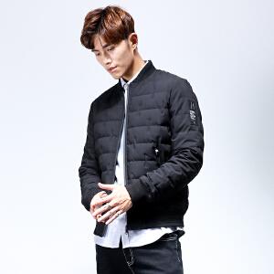 yaloo/雅鹿冬季新款男士时尚潮流休闲短款羽绒服