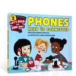 顺丰发货 英文进口原版 Phones Keep Us Connected儿童电话知识科普绘本 Let's Read A