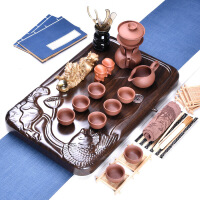 家用陶瓷茶壶茶杯茶台茶道实木茶盘紫砂茶具套装