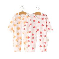 人之初2件装长袖纯棉婴儿连体衣春夏季新生儿衣服宝宝长袖睡衣哈衣爬爬服空调服