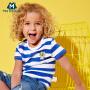 迷你巴拉巴拉男童短袖T恤儿童夏装男宝宝童装条纹上衣纯棉体恤