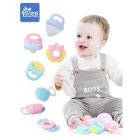 男宝宝女孩0-1岁 婴儿玩具牙胶手摇铃可咬水煮3-6-12个月5