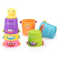 儿童彩虹圈叠叠杯宝宝戏水玩具6早教1-3岁叠叠乐套套杯