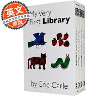 艾瑞克卡尔绘本故事套装 英文原版 My Very First Library 1-3岁儿童 英语学习入门 图形 数字