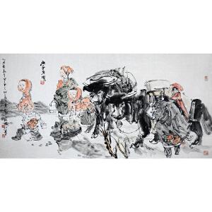 国家画院副院长、中国美协理事 张江舟 《秋气空明》