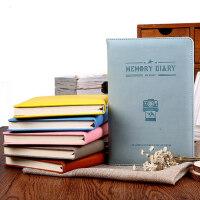 晨光笔记本文具记事本子学生办公创意皮革胶套本3本装APYH8970