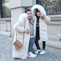 网红ins超火亲子装棉衣2018冬装母女装洋气中长款羽绒外套潮