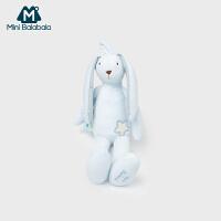 迷你巴拉巴拉男女儿童安抚玩具可爱长耳兔娃娃长腿兔子摇铃玩偶公仔