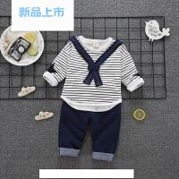 2018儿童宝宝秋春装套装两件套婴儿0小孩衣服2童装4男童1-3周岁潮