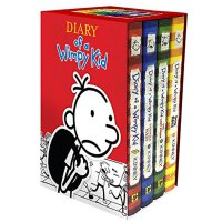 Diary of a Wimpy Kid Box of Books 1-4 Revised【英文原版童书】小屁孩日记套