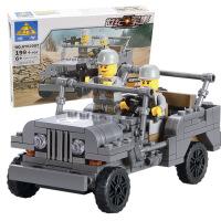 开智儿童玩具益智拼装拼插积木玩具组装军事模型男孩玩具KY82007