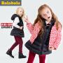 巴拉巴拉童装女童羽绒服中大童冬装儿童羽绒外套两件套女