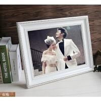 欧式相框婚纱实木白色16 20 24寸30 32 36寸挂墙照片大相框