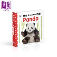 【中商原版】DK触摸启蒙熊猫 DK Baby Touch and Feel Panda 触摸书 低幼启蒙入门 纸板书 英