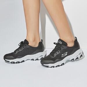 Skechers斯凯奇情侣鞋D'lites熊猫鞋 厚底增高运动鞋 66666061