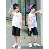 童装男童套装夏装新款儿童无袖背心运动两件套中大童
