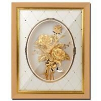 金箔玫瑰花 摆件挂件新婚婚房装饰品送女友生日礼物创意礼品