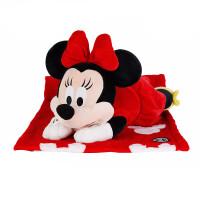 Disney米妮/米奇毛绒公仔玩具抱枕毛毯多用米老鼠玩偶礼物儿童节礼物 【米妮】张天爱同款 【长40 宽23 高19】