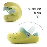 女童宝宝拖鞋夏婴幼儿凉拖鞋儿童洞洞鞋男童沙滩鞋小孩