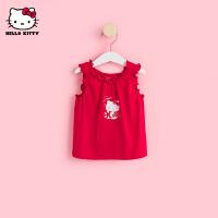 超品日【5.8号抢购价:29.8】HelloKitty女童背心2021夏季新款无袖T恤婴儿宝宝儿童装洋气上衣