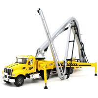合金工程车模混凝土泵车1 55儿童玩具汽车模型 混凝土泵车-黄色