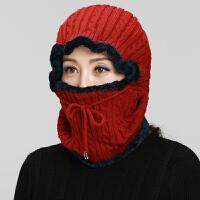 毛线帽子女秋冬包头帽针织帽老人帽子母亲季毛线中老年妈妈保暖帽