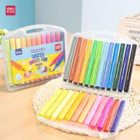 水彩笔盒装绚丽多彩套装涂鸦大容量三角杆粗头 手绘画笔儿童12/18/24色可水洗