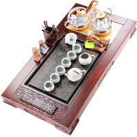 茶盘实木大号家用复古紫砂功夫茶具套装乌金石茶台电磁炉自动上水