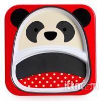 美国Skip Hop儿童餐具宝宝卡通餐盘动物总动员仿瓷餐盘单个装