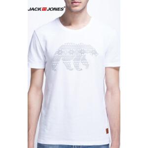 杰克琼斯/JackJones时尚百搭新款T恤 熊-10-2-8-214301004023