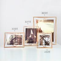 创意金属相框摆台欧式现代简约挂墙立体画框照片摆台相片框