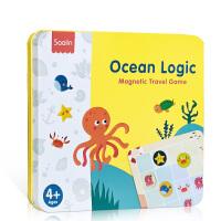 Saalin : Ocean Logic 莎林【逻辑思维训练铁盒桌游进阶版】儿童磁性数独玩具数学游戏棋 亲子互动幼儿入