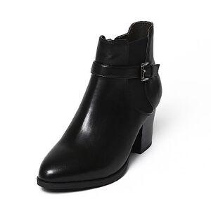 【百丽集团夏季大促,5.28准时开抢】Belle/百丽冬专柜同款油皮牛皮女短靴BLDA2DD6