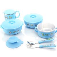 儿童餐具套装带盖勺叉 婴儿不锈钢碗儿童碗宝宝碗吸盘碗