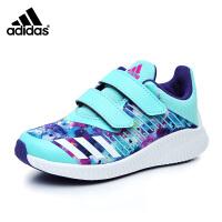阿迪达斯adidas童鞋17活力迷彩女童跑步鞋跑鞋防滑耐磨儿童运动鞋户外休闲鞋 蓝/白(5-15岁可选) CP9614