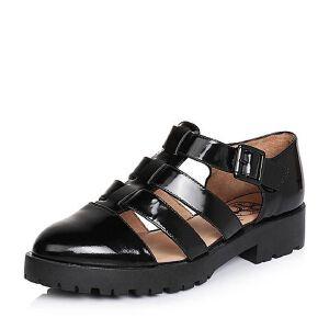 Teenmix/天美意春季专柜同款光面小牛皮森女系女凉鞋6WW30AK6