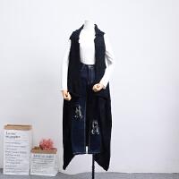C1【/1.1斤】K04秋冬季韩版新款中长马夹毛衣外套