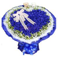 送花33朵红玫瑰花束鲜花速递同城店东莞深圳福州北京中山惠州礼品 不含花瓶