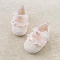 戴维贝拉春季新款女宝宝婴儿鞋 新生儿软底步前鞋DB7128