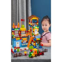 积木拼装玩具智力6-7-8-10岁男孩子1-2大颗粒3宝宝男童