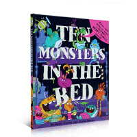 【全店300减100】英文原版 10 Monsters in the Bed 10怪物在床上 儿童趣味故事 精装绘本