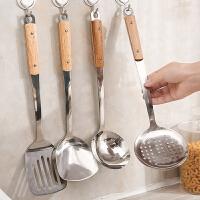 厨房不锈钢锅铲家用长木柄炒菜铲子汤勺漏勺子全套装厨具用品野炊烧烤