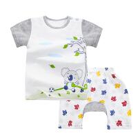 男童短袖套装宝宝夏装内衣婴儿T恤短裤小童套装潮