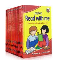 【全店300减100】英文原版 Ladybird: Read with Me 16册 跟我读 阅读计划关键词 key w