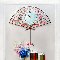 钟表扇形挂钟客厅创意石英钟家用静音夜光大挂表现代简约时钟SN4303 26英寸