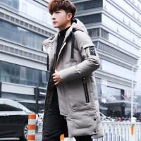 中长款男士棉衣冬季 韩版潮流加厚冬天 男装2018新款外套羽绒
